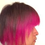 【マニパニ】色落ちしてきたピンクの派手髪に美容室で色を足してもらった
