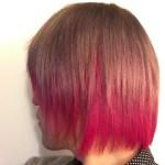 【派手髪】色落ちしてきた紫の髪に赤を足してもらったら、こんな色になった