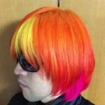 下北沢の美容院でオレンジ&ピンク&イエローの派手髪にしてきたよ!