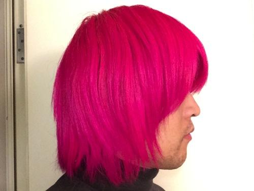 ピンク オレンジ ヘア カラー