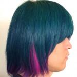 下北の派手髪美容室VIVA CUTE CANDYで緑とピンクに染めてもらった!