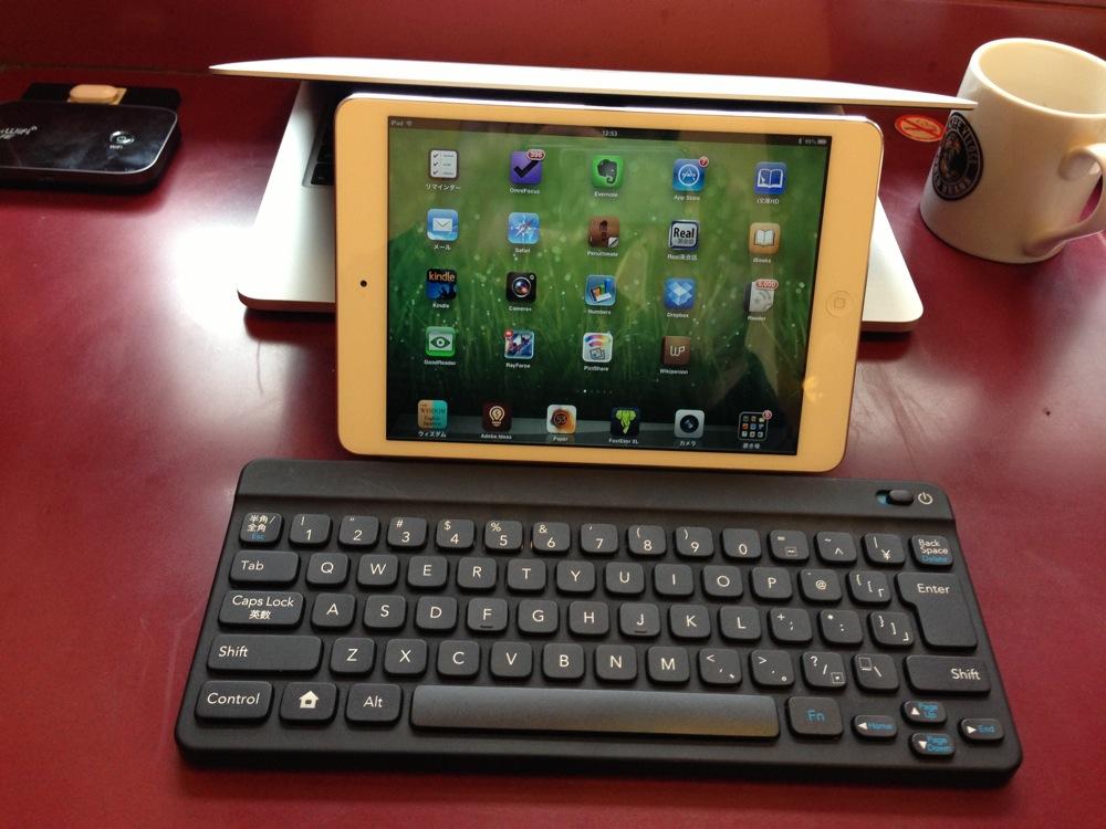 iPad miniとポケモンキーボードの組み合わせが軽くてコンパクトで便利