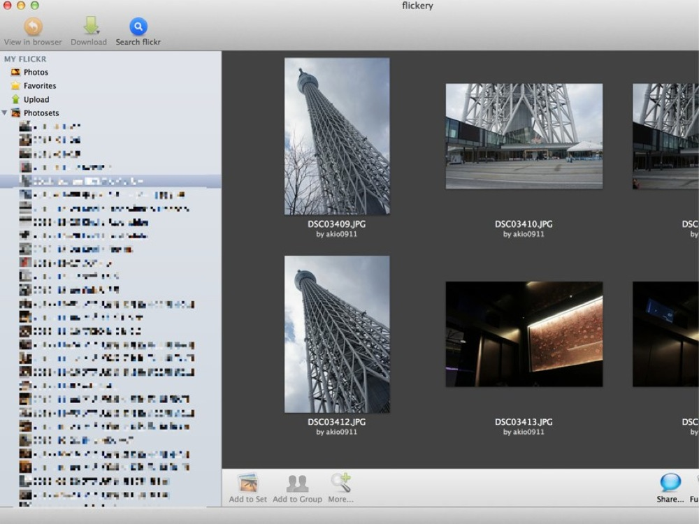 MacでFlickrの写真を見るなら「flickery」がオススメ