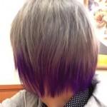 【派手髪】東京・下北沢の美容院で髪を紫とグレーに染めてもらった