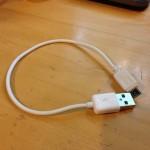 充電専用microUSBケーブルを買ってみた 短めの20cmで使いやすい!