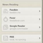 iPhoneのRSSリーダーアプリ Reeder でローカルRSSを登録してみた