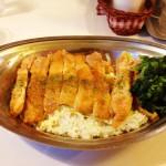 ニンニクが効いてる! 東京・中野にある「ハヤシ屋中野荘」で「スタミナチキンソテー丼+ほうれん草」を食す!