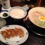 久留米 大砲ラーメン 天神今泉店でラーメン+ごはんセットを食す!